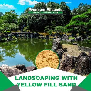 landscaping with yellow fill sand